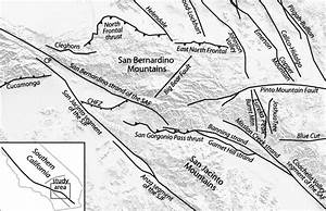 Fault Trace Map Of The San Bernardino Mountains Region  The Acronyms