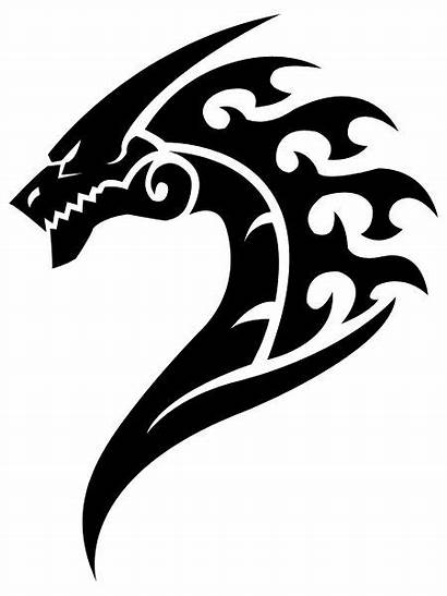 Dragon Profile Tattoo Cool Tribal Deviantart Icon