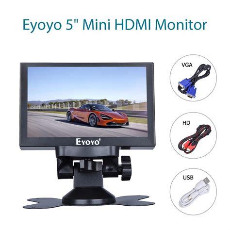 mini hdmi display eyoyo 5 inch mini hdmi monitor 800x480 car rear view tft