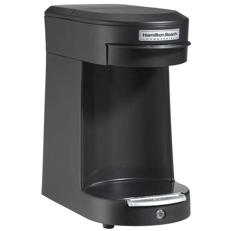 Most one serve coffee makers use coffee pods to brew a cup of. Hamilton Beach Commercial HDC200B 1 Cup Pod Coffee Maker w/ ASO Black 6 Per Case Price Per Each