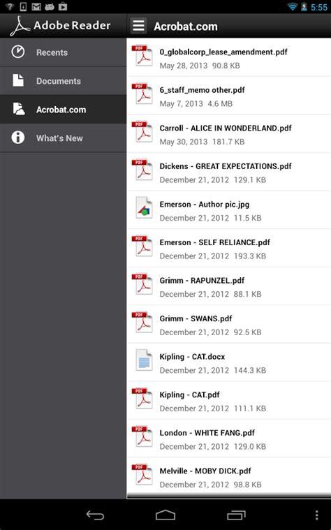 adobe reader for android adobe reader 10 6 1 apk