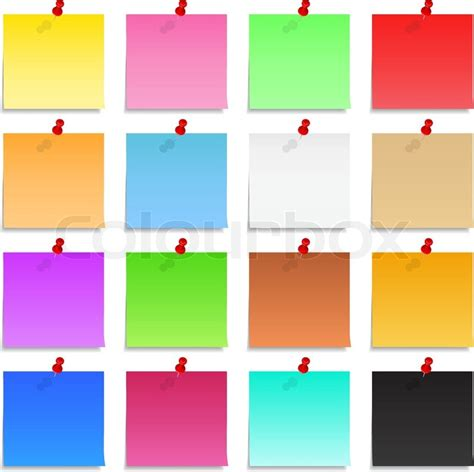 Account Sheet Template Post It Notes Stock Vector Colourbox