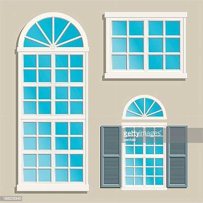 Windows Window Vector Illustration Illustrations Arch Shutter