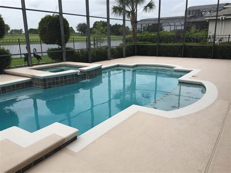 after completed project bombay for the deck sand dollar for the color band pools in 2019
