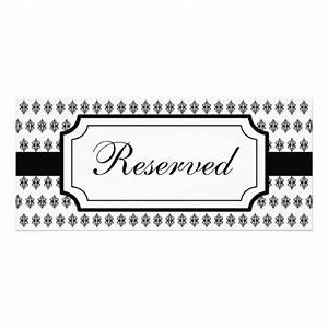 reserved table card template pictures to pin on pinterest With reserved seating signs template