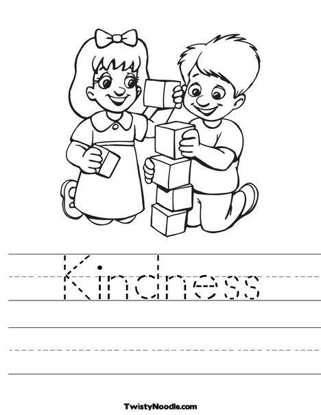 kindness coloring page journey kids pinterest