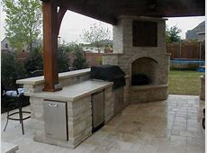 Outdoor Kitchen And Fireplace Designs Kitchen Decor
