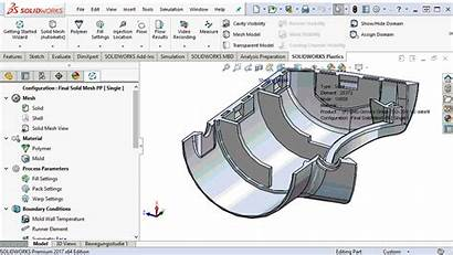 Injection Molding Simulation Solidworks Right Thickness Mold