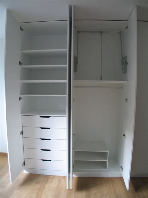 White Wardrobe With Shelves by 30 Best Collection Of Wardrobe With Drawers And Shelves
