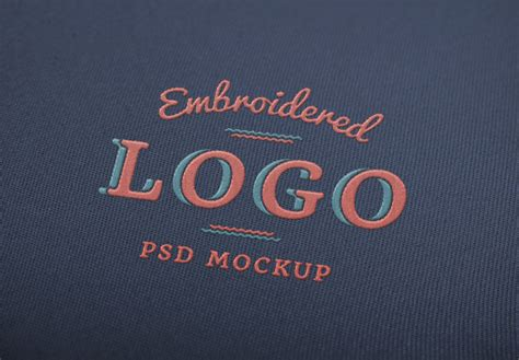 embroidered logo mockup graphicburger