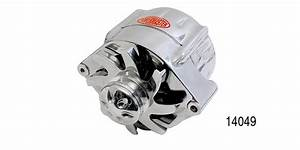 Powermaster Chevy Chrome  U0026quot Smooth Look U0026quot  Alternator  140 Amp