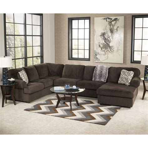 sectional living room sets jessa place chocolate sectional living room set signature