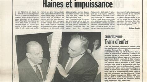Il y a 20 ans : Haines et impuissance