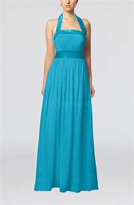 teal elegant a line sleeveless chiffon floor length ribbon With teal dresses for wedding guest