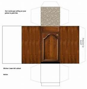 Dolls house printables kitchen white goods on pinterest for Kitchen cabinets lowes with set de table papier