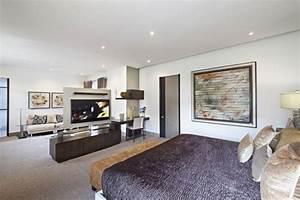 Fernseher Als Raumteiler : moderne schlafzimmer ideen stilvoll mit designer flair ~ Sanjose-hotels-ca.com Haus und Dekorationen