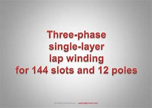 Motor Winding 12 Poles  144 Slots