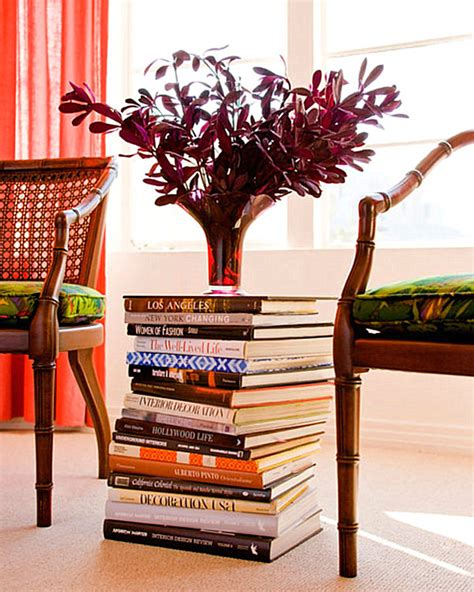 books for decoration a table stack of books decoist