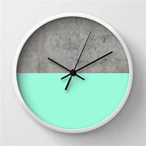 Buy Turquoise Concrete Modern Wall Clocks At 20 Off