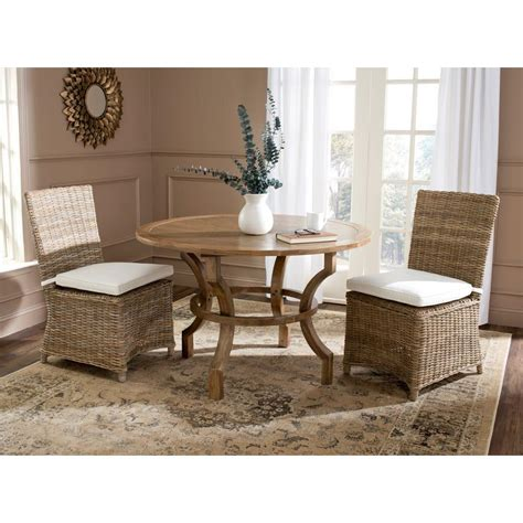 Safavieh Dining Chair by Safavieh Sebesi Rattan Dining Chair Set Of 2