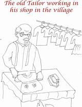 Tailor Coloring Elephant Shops Pdf sketch template