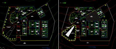 Hotel For Camping 2D DWG Design Block for AutoCAD