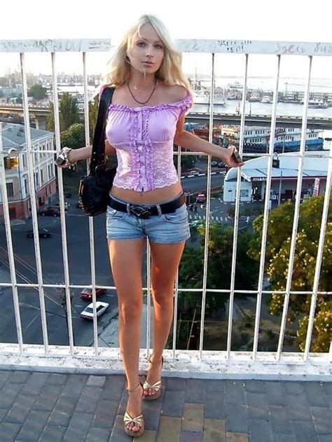 Hot Babe In Purple Nips Out Sexyblonde Hotblonde