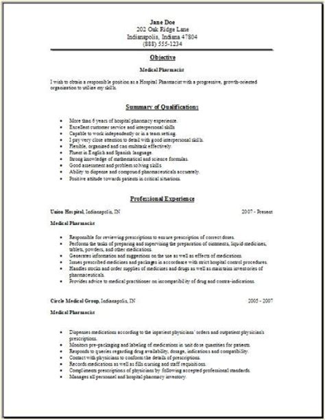 Resume Tips For Locum Pharmacist Jobs  Get Jobs And
