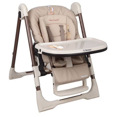 chaise haute b 233 b 233 vision avec r 233 ducteur la girafe de renolux en vente chez cdm