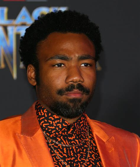 Donald Glover At The Black Panther Premiere And Quincy