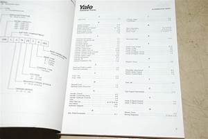 Yale Forklift Parts Manual For Model Mcw 2000 2500 3000