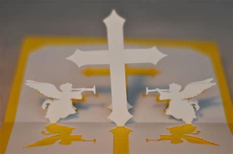 christian cross pop  card template