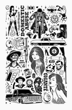 ORIGINAL GIANT CONTENT — New poster! 18x24″, edition of 100. Printed by... | Tattoo drawings