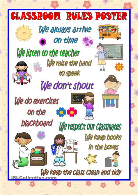 classroom safety rules for preschoolers classroom poster esl 2 classroom 703