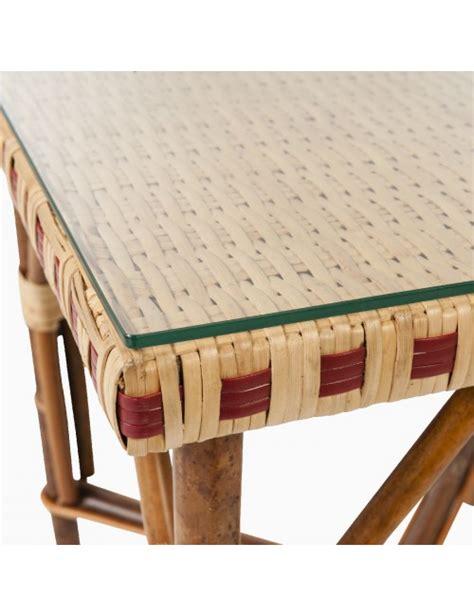 verre trempé pour table verre pour table basse en rotin bagatelle table en rotin