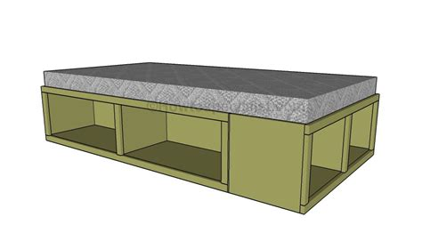 twin storage bed plans  woodworking