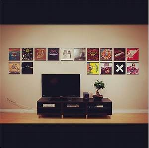 the ultimate vinyl lover decor With kitchen cabinets lowes with album cover wall art