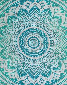 QUEEN WHITE PINK HIPPIE INDIAN MANDALA TAPESTRY HANGING
