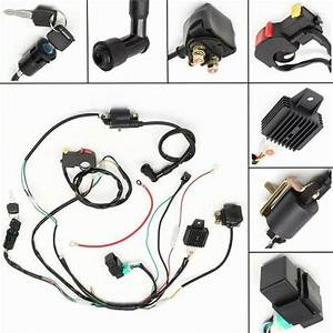 50 70 90 110cc 125 Cdi Wire Harness Assembly Atv Electric