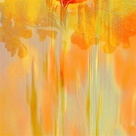 modern painting abstract modern abstract yellow floral flower painting for