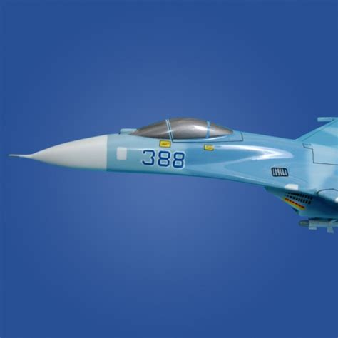 Su-27 Flanker Airplane Model, Su-27 Wooden Model Aircraft