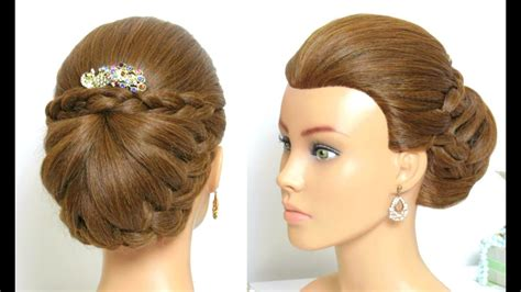 Beautiful Bridal Hairstyle For Long Hair Tutorial. Braided