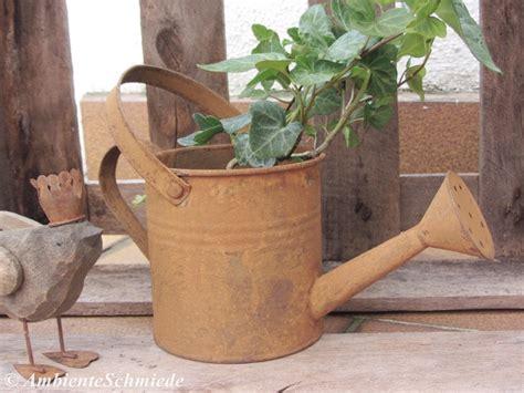 deko garten vintage deko gie 223 kanne rost braun pflanzgef 228 223 bepflanzen garten
