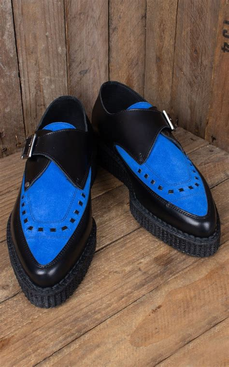 creeper blue suede shoes rockabilly rules