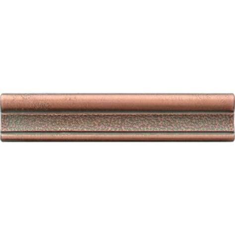 Home Depot Wall Tile Trim by Daltile Castle Metals 2 1 2 In X 12 In Aged Copper Metal