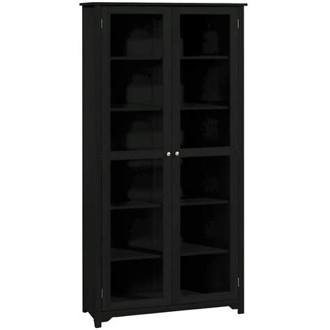 Black Glass Bookcase by Home Decorators Collection Oxford 6 Shelf Bookcase With