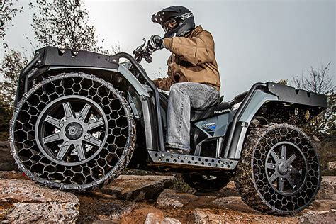 Polaris Airless Tires by Non Pneumatic Tires Finally Hit The Commercial Sector