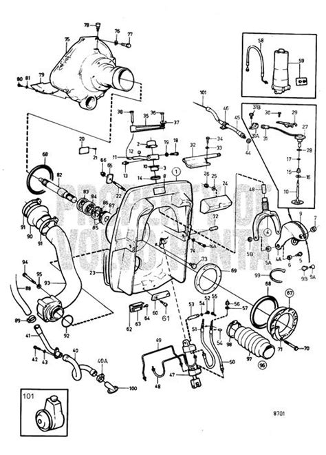 volvo penta exploded view schematic connecting