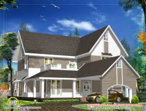 Roof Plans For House Ideas by Sloping Roof House Design 3305 Sq Ft Indian Home Decor