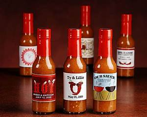 quotturnin39 up the heatquot personalized hot sauce set of 12 With hot sauce wedding favors